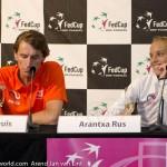 Arantxa Rus Paul Haarhuis na winst Rus Fed Cup NL 2015 8417