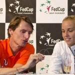 Arantxa Rus Paul Haarhuis na winst Rus Fed Cup NL 2015 8423