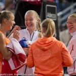 Arantxa Rus en team Fed Cup na winst Rus NL 2015 26465