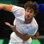 Robin Haase Davis Cup NL Finland 10 feb 2012 4517