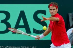 Roger Federer Davis Cup NL Zwits 1007