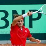 Roger Federer Davis Cup NL Zwits 1024