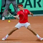 Roger Federer Davis Cup NL Zwits 1048