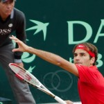 Roger Federer Davis Cup NL Zwits 1110