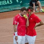 Roger Federer Davis Cup NL Zwits 672