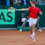 Roger Federer Davis Cup NL Zwits 983