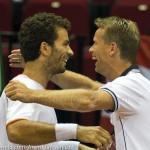 Jan Siemerink Jean-Julien Roger Davis Cup 2013 Nederland Oostenrijk 9946
