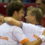 Jan Siemerink Robin Haase Davis Cup 2013 Nederland Oostenrijk 9952