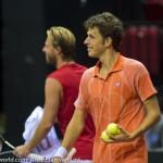 Oliver Marach & Robin Haase Davis Cup 2013 NL Oostenrijk 8554