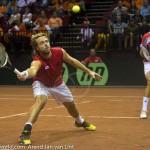 Oliver Marach en Knowle Davis Cup 2013 NL Oostenrijk 9463