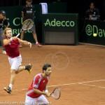 Oliver Marach en Knowle Davis Cup 2013 NL Oostenrijk 9727