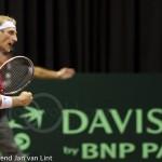 Thiemo de Bakker Davis Cup NL-Oostenrijk Melzer 8904