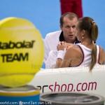 Magdalena Rybarikova and coach Katowice 2014 7729
